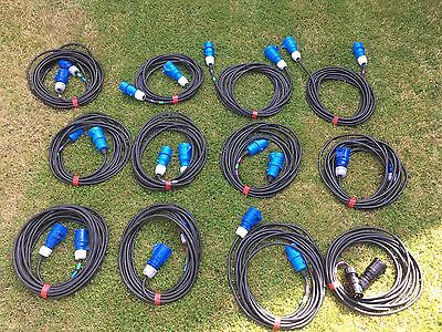 12x 16 Amp Cable HO7 1.5mm 10m - Stage Lighting Job Lot