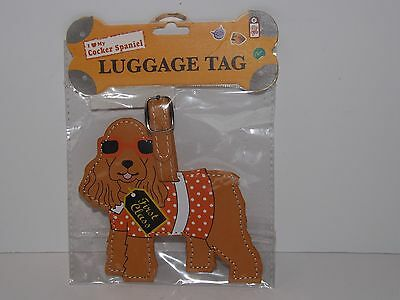 New In Package Little Gifts Cocker Spaniel Luggage Tag ~ NIP