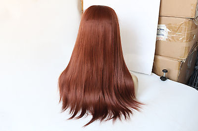 """Heat resistant synthetic hair front lace wig 18"""" #35 straight"""