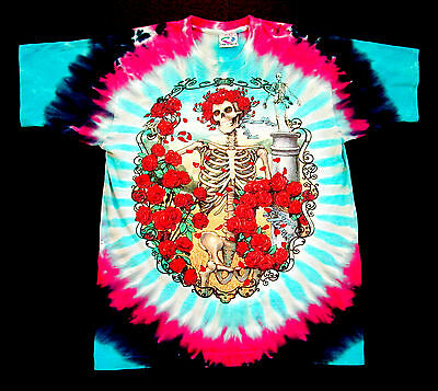 Grateful Dead Shirt T Shirt Vintage 1995 Mouse Bertha 30 Years GD Tie Dye GDM L