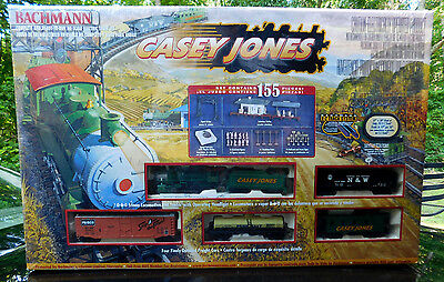 FACTORY SEALED BACHMANN HO Casey Jones Freight Train Set #00617   155 PIECES NOS
