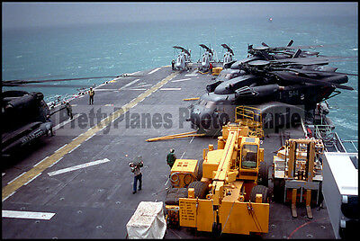 MH-53 Sea Dragon HM-14 AH-1 Sea Cobra Helicopters 1991 8x12 Photo