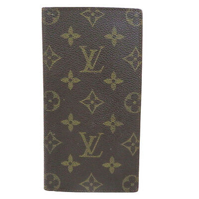Authentic LOUIS VUITTON Agenda Day Planner Cover Monogram Leather Brown 06B693