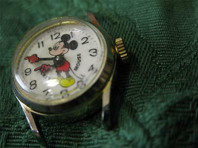 Vintage Collectible Bradley Mechanical Wind Mickey Mouse Disney Character Watch