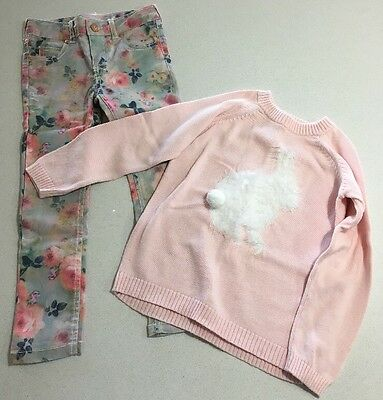 Girls Size 5 Jeans Pants And Knit Jumper