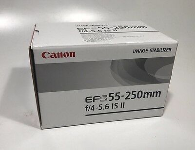 Canon EF-S 55-250mm f/4.0-5.6 IS II Lens (Aus Stock And Warranty)