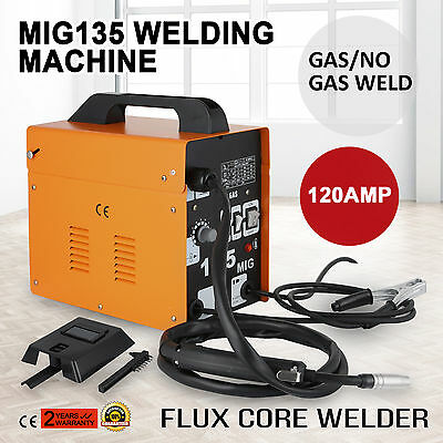 Mig135 Gasless Flux Core Welding Machine Portable Inverter Welding Gas/No Gas