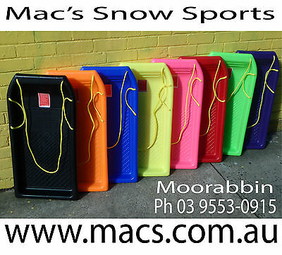 TOBOGGAN SNOW SLED CARVE *AUST APPROVED* PICK  COLOURS* 2 FOR $105 Plus Postage