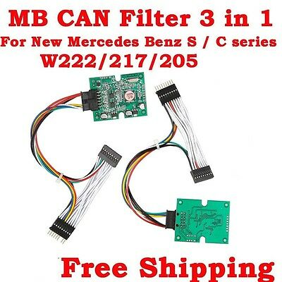 Neu MB CAN Filter 3 in 1 for New Mercedes Benz S / C series W222/W217/W205