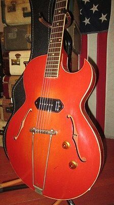 Vintage 1956 Gibson ES-225 Electric Guitar Plays Great P-90 Fat Neck w/ Case