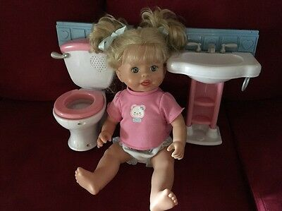 FISHER PRICE LITTLE MOMMY GOTTA GO POTTY DOLL And Potty