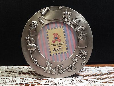 Seagull Pewter Baby Picture Frame 1995 Etain Zinn Pf 4065