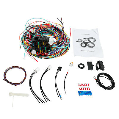 Universal Extra long Wires 21 Circuit Wiring Harness chevy wiring harness dash bezel schematic diagrams