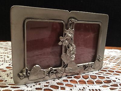 Seagull Pewter Small Double  Picture Frame 1992 Etain Zinn