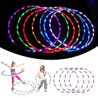 90cm Colorful light LED Glow Hula Hoop Performance Hoop Sports Toys Loose Weight