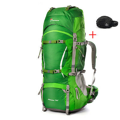 Backpack Climbing 70l Bag Travel Outdoor Hiking Camping Large Waterproof Waist