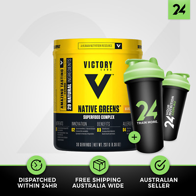 Victory Labs Native Greens | Natural Greens & Herbs Superfood Blend | Free Gift!