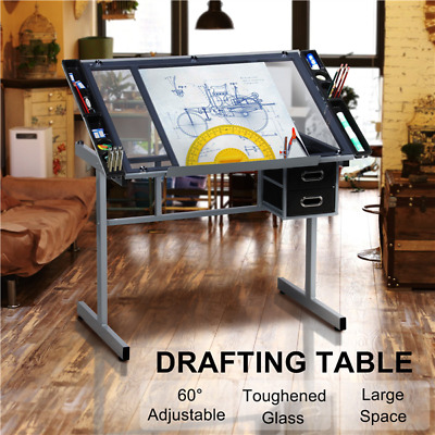 Adjustable Drafting Drawing Craft Art Artist Desk Table Board Home Office Kids