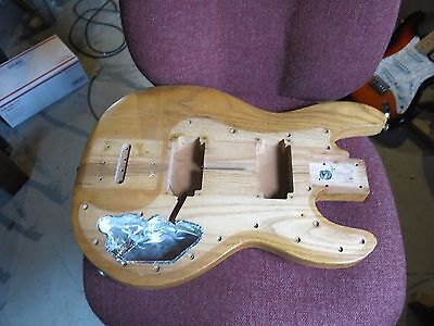 Vintage 1979 PEAVEY T-40 BASS BODY ONLY USA Natural Ash Maple Finish Solid Wood