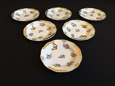 HEREND QUEEN VICTORIA BREAD AND BUTTER PLATES (6 pcs.)