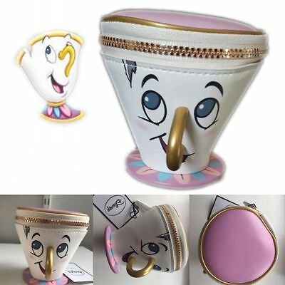 AU Primark Beauty And The Beast Chip Cup Coin Purse Wallet Trinket Handbag Bag