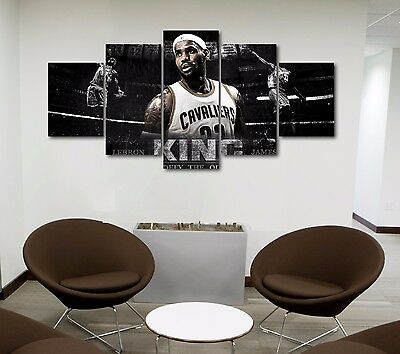 Large Size Lebron James the King Canvas Print Wall Poster High Quality