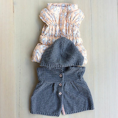 Baby girl's Sprout puffer vest & Carters 100% cotton cardigan
