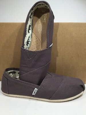 TOMS Women's Sz 9 Grey Canvas Comfort Casual Walking Slip On Flats Shoes TS-657