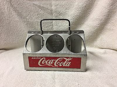 Vintage Metal Coca Cola  6 Bottle Carrier