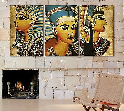 Large Size Ancient Egyptian Pharaohs Canvas Print Home Decor Wall Art