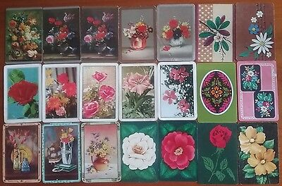 21 FLOWERS Blank Back Swap Playing Cards Bulk Lot