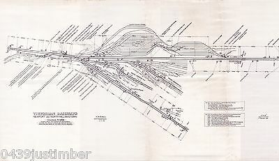 Victorian Railways Map..Newport & Nth Williamstown in 1966..a new A4 size copy