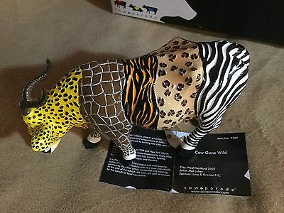 """Cow Parade Figurine """" Cow Gone Wild """" ( # 7769 - Retired )"""