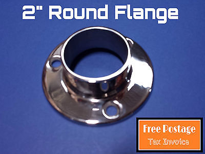 ROUND FLANGE 316 STAINLESS STEEL CONNECTOR 50.8mm HANDRAIL FITTING BASE PLATE