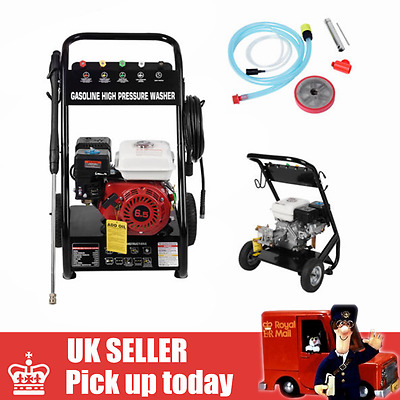 PANANA BAR 2200psi 6.5HP Petrol Driven Power Pressure Jet Washer Solid Frame