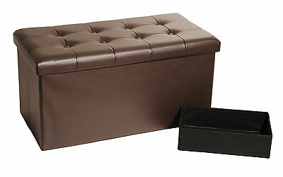 Faux Leather Storage Bedroom Bench Seville Classics FREE SHIPPING (BRAND NEW)