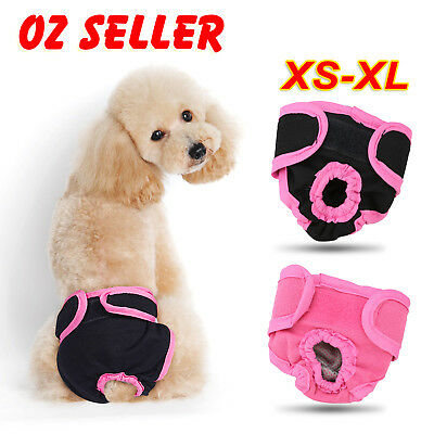 XS-XL Dog Pet Female Nappy Diapers Shorts Season Sanitary Pants UndiesUnderpants