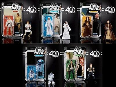 STAR WARS The Black Series 40th Anniversary - WAVE 1 FULL SET (5) - NEW & SEALED