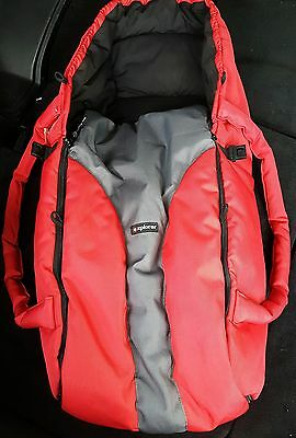 Phil and Teds Cocoon baby carrier. Explorer. Red. Excellent condition, like new