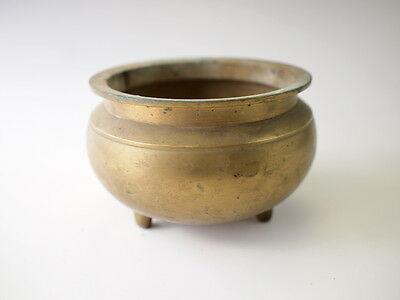 JAPANESE ANTIQUE BRASS CONTAINER BUDDHISM Incense burner Buddhist Altar fitting