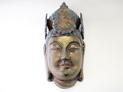 "Japanese Antique "" The Temple's Buddha Mask "" Rare"