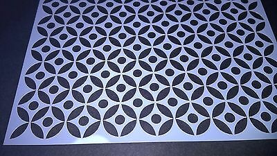Circle Lattice Stencil Scrapbooking Card Making Airbrush Painting Home Decor Art
