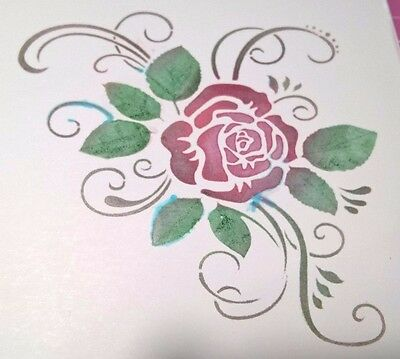 Reusable Rose Craft Stencil Home Decor Scrapbooking Album Airbrush Painting UK