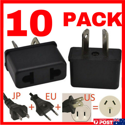 10 x USA EU EURO ASIA to AU AUS AUST AUSTRALIAN POWER PLUGs TRAVEL ADAPTER