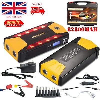 82800mAh Portable Car Auto Jump Starter Charger Booster Power Bank Battery 4USB
