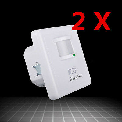 2X 220-240V Recessed PIR Ceiling Occupancy Motion Sensor Detector Light Switch