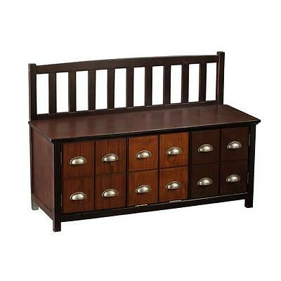 Derrymore Wood Storage Entryway Bench Alcott Hill FREE SHIPPING (BRAND NEW)