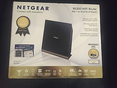 NetGear R6300 1.75Gbps Dual Band Gigabit Wireless Router AC1750 4-Port 2x USB