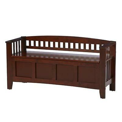 Winthrop Wood Storage Entryway Bench Andover Mills FREE SHIPPING (BRAND NEW)