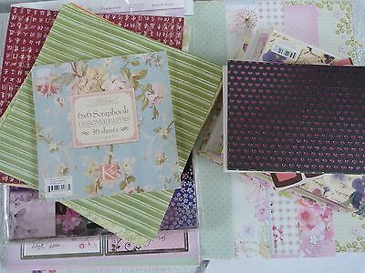 Assortment of Craft Papers for Card Making/ Scrapbooking 200+ Pieces
